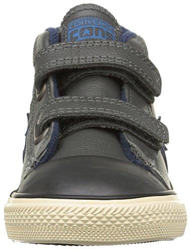 Converse Sp 2v Lea Mid Unisex-Kinder Sneaker Grau - Grau (Grau / Blau)
