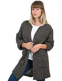 Sunshine - Gilet en laine à grosse mailles sans fermoir - Femme