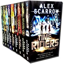 Time Riders Collection Alex Scarrow 9 Books Set Pack (TimeRiders, Day of the Predator, Doomsday Code, Eternal War, Gates of Rome, City of Shadows, Pirate Kings, Mayan Prophecy, Infinity Cage)