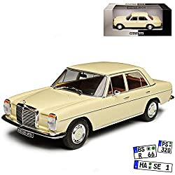 WHlTEBOX Mercedes-Benz 200 /8 Strich Acht Limousine Beige Weiss W114 W115 1967-1976 1/24 Whitebox Modell Auto