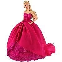 Miunana 1 Princesa Elegante Vestido de Noche Novia Vestir Boda Ropa de Fiesta para la Muñeca del Barbie Doll