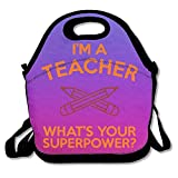Best LEGO Teacher Bags - I'm A Teacher, What's Your Superpower Purple Lunch Review
