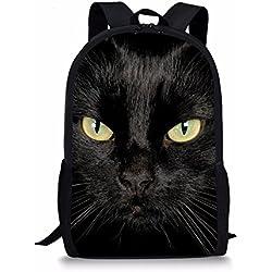 Coloranimal Mochila escolar gato negro large