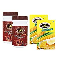 TRIPPLESTAR Chocolate Powder- 100 gm, Pack of 2 and Corn Flour- 100 gm, Pack of 2