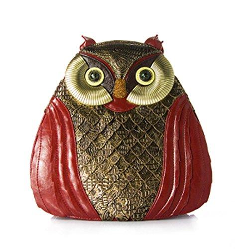 Partiss Damen Vintage Gothic Eule Rucksack Lolita Handtasche,Onesize,Red (Handtasche Gothic Lolita)