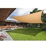 Greenbay Voile d'ombrage de soleil Jardin Patio Fête l'écran Solaire 98% résiste aux UV Rectangle Sable