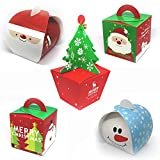 5 Geschenkboxen für Weihnachten   Set aus 5 Designs   Hochglanz Geschenk-Schachteln mit weihnachtlichen Motiven und festlichem Design   Premium Hochglanz-Farbdruck