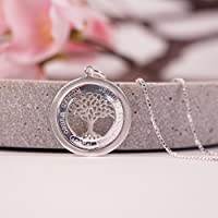Lebensbaum...Personalisierte Namenskette, 925er Silberkette mit Gravur, Kette mit Gravur, Familienkette, Tree of life