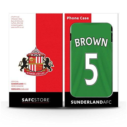 Offiziell Sunderland AFC Hülle / Matte Snap-On Case für Apple iPhone 7 / Harper Muster / SAFC Trikot Away 15/16 Kollektion Brown