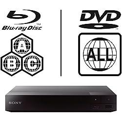 Sony BDP-S1700Unidad Multi Zone Código Region Free BLU Ray–DVD–CD Player–PAL/NTSC–Worldwide Voltage 100~ 240V–1USB, 1HDMI, 1Coax, 1Ethernet Connections + 6Feet HDMI Cable Included.