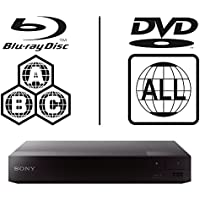 Sony BDP-S1700 Unidad Multi Zone Código Region Free BLU Ray – DVD – CD Player – PAL/NTSC – Worldwide Voltage 100 ~ 240 V – 1 USB, 1 HDMI, 1 Coax, 1 Ethernet Connections + 6 Feet HDMI Cable Included.