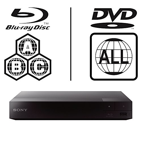 Sony bdp-s1700 Smart icos Multi Region alle Code Zone Free Blu-ray Player. BLU-RAY Zonen A, B und C, DVD Regionen 1–8. Full HD 1080p DLNA YouTube, Netflix etc. HDMI-Ausgang und Koaxial Audio-Ausgang - Dvd-player Sony Hdmi
