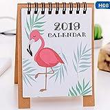 Meilleure Qualité-Calendrier-Dessin 2018.9-2019-12Dessin animé Mini Flamingo papier de bureau Calendrier double Daily Scheduler Table Planning Agenda organiseur-par Chipsua-1pcs...