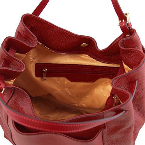 Tuscany Leather Cinzia - Borsa shopping in pelle morbida - TL141515 (Rosa antico) Rosso
