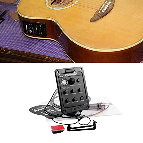 Prom-near Gitarre Tonabnehmer pickup Löcher Pick up Gitarren Pickup für Akustik Gitarre Gitarren Konzertgitarre Folk Gitarre Pickup Musikinstrument Zubehör 84,2 * 55,8 * 41,3 mm