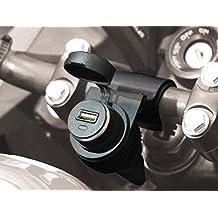 BC Battery Controller 710-P12USB - Toma de Mechero / Toma Encendedor 12V Estanca con Soporte Universal para Manillar para Moto + Toma Cargador USB