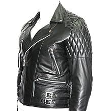 233 speed hombre chaqueta de moto de cuero de brando moto negro vaca real hide