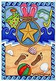 DIYCCY Beach Medley 31,8x 45,7cm Deko Sommer Sand Flip Flop Bucket Seestern Garten Flagge