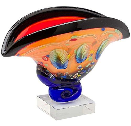 Antike Glas Schalen (Glas Schale im Italien Murano antik Stil Breite 43cm 6kg Glasschale glass bowl)
