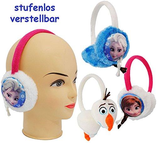 1 Stück _ Ohrenschützer - ' Disney Frozen - die Eiskönigin - Olaf ' - aus Plüsch - universal verstellbar / Einheitsgröße - für Kinder / Mädchen & Jungen - Ohrwärmer - Ohrenwärmer / Mitgebsel - Ohrschützer - Stirnband - Erwachsene - Plüschohrwärmer - Mütze Winter - Prinzessin völlig unverfroren - Elsa Arendelle - Kinderschmuck - Haare Zopf - Accessoires - Plüschohrenschützer Ohrenschutz - Fleece