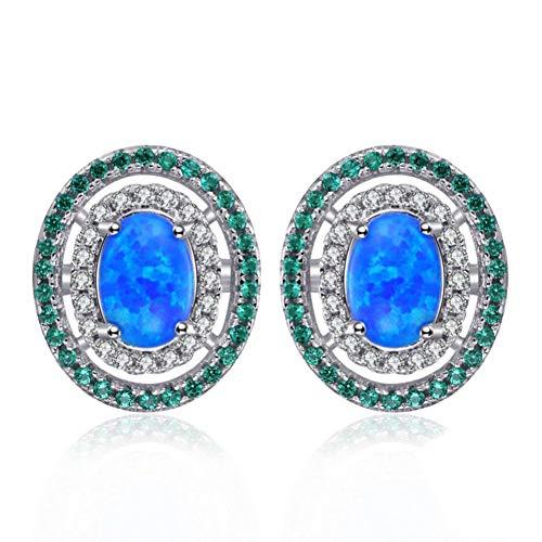 CBLXN Ohrringe 0.5ct Opal Black Nano Simulation Markise Emerald Ohrstecker 925 Sterling Silber Ohrringe