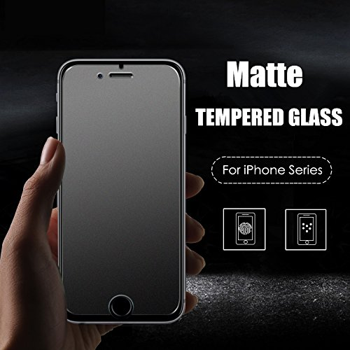 MOBITECH Full Matte Tempered Glass Screen Protector for iPhone 6/6s (Transparent)