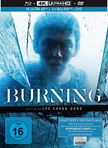 Burning - 4-Disc Limited Collector's Edition Mediabook (4K Ultra HD) (+ 2 Blu-rays) (+ DVD)