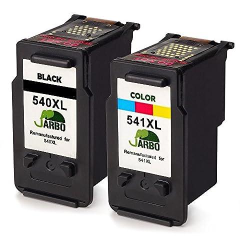 JARBO Remanufactured Canon PG-540XL CL-541XL Cartouches d'encre (1 Noir, 1