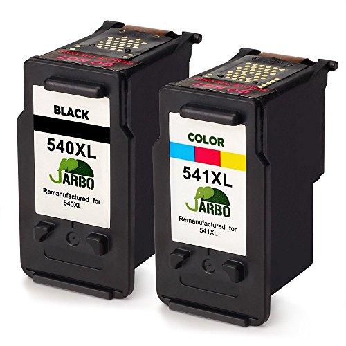 JARBO Remanufactured Canon PG-540XL CL-541XL Druckpatronen (1 Schwarz,1 Farbig) kompatibel zu Canon...
