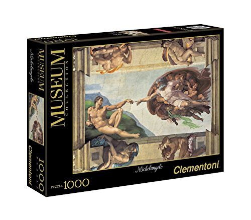 Clementoni 31402 - Puzzle Michelangelo - La Creazione dell'Uomo, Collezione Museum, 1000...