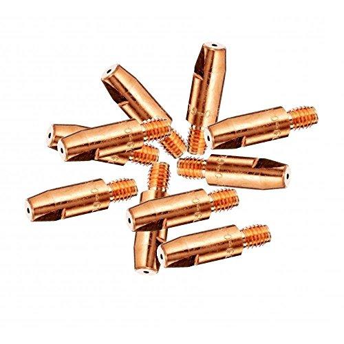 Preisvergleich Produktbild 10x 0,8mm MIG Euro Taschenlampe Stromdüse für MB15MB25MB36Anschweißen 10Pack