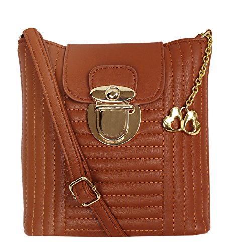 I Define You hidesign Light Weight as Butterflies Designer (Tan Color) Sling Bag For girls and Womens  available at amazon for Rs.916