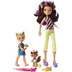 Monster High FCV81- Lot de 2 poupées Monster Family