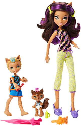Monster High FCV81 - Lot de 2 poupées Monster Family