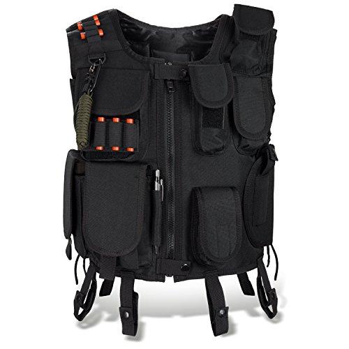 SWAT Einsatzweste taktische Weste schwarz Paintball Softair Gotscha Brustschutz BlackSnake - XL/XXL - SWAT
