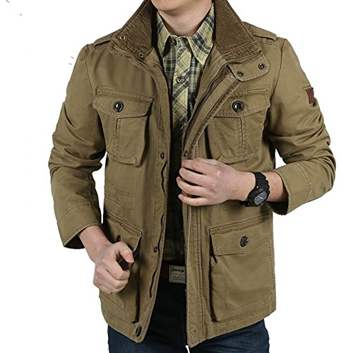 printemps-casual-veste-pour-hommes-multi-poche-100-coton-army-green-xl-khaki