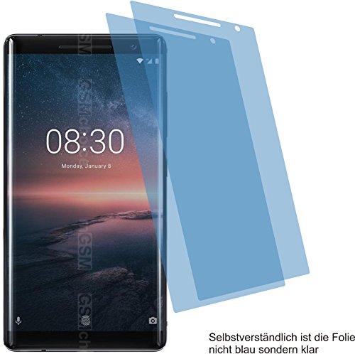4ProTec 2X ANTIREFLEX matt Schutzfolie für Nokia 8 Sirocco Bildschirmschutzfolie Displayschutzfolie Schutzhülle Bildschirmschutz Bildschirmfolie Folie