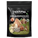 Bio Nussmischung, Edelnussmischung 1kg mit Premium Nüssen Rohkost-Qualität mit viel Protein, ungesalzen, naturbelassen, ungeröstet