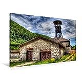 Premium Textil-Leinwand 90 cm x 60 cm quer, Kompressorhaus | Wandbild, Bild auf Keilrahmen, Fertigbild auf echter Leinwand, Leinwanddruck (CALVENDO Orte)