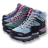 CMP Wanderschuhe Damen Outdoor Schuhe Trekkingsschuhe wasserdicht leicht und bequem mit Dicker Sohle in vielen Farben Ragel, Größe:39, Farbe:Abete-Borgogna-Black