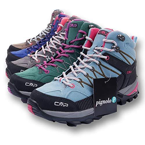 CMP Wanderschuhe Damen Outdoor Schuhe Trekkingsschuhe wasserdicht leicht und bequem mit Dicker Sohle in vielen Farben Ragel, Größe:38, Farbe:Tortora-Ice-Black