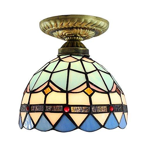Alger Exquisite Details von Tiffany Shell Lampen Deckenleuchte Balkon Licht Europäische Treppe Licht Verandalicht Bar Lampe Esszimmer Licht 20cm