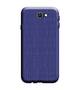 Samsung Galaxy A7 2017 Edition Back Cover designer 3D Hard Mobile Case printed Cover for Samsung a7 2017 edition by Gismo - Dot Print Theme Blue Polka Dot