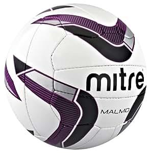 Mitre Malmo Ballon d'entraînement Blanc/Violet/Noir Taille 3