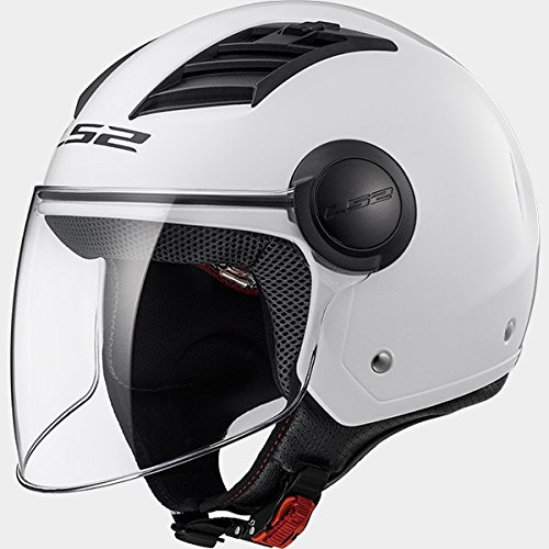 Preisvergleich Produktbild LS2 Helm Motorrad of562 Airflow,  Gloss White Long,  XS