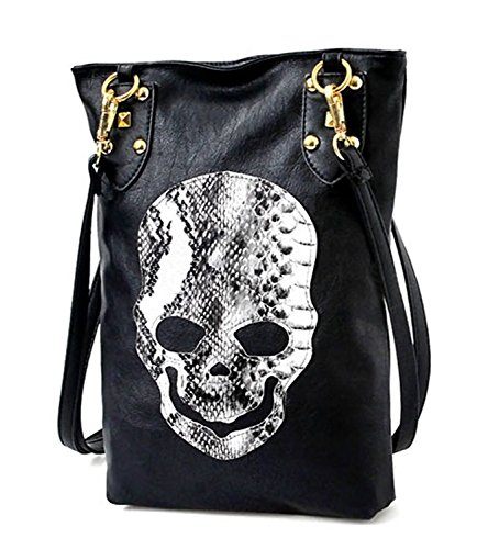 imayson-women-lady-black-skull-messenger-handbag-shoulder-pu-leather-hobo-sling-bag