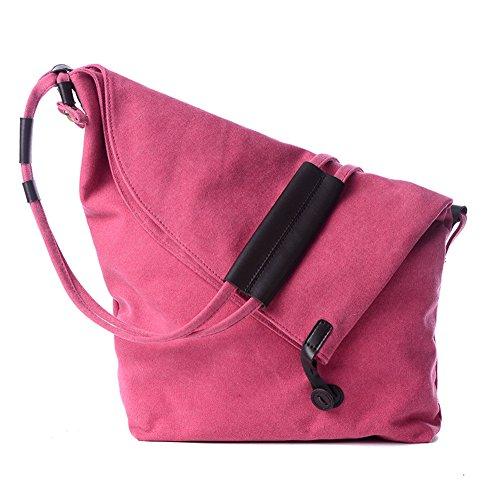 fanhappygo Fashion Canvas Unisex Tasche Handtasche Umhängetasche Handtasche Messenger Taschen Leinwand Tasche pink