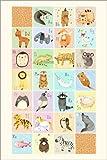 Posterlounge Forex-Platte 120 x 180 cm: Tieralphabet Englisch von Judith Loske