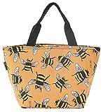 Eco Chic Isolierte Lunch-Tasche, Kühltasche, Picknick-Tasche, Tasche für Lunchpakete, Bees Yellow