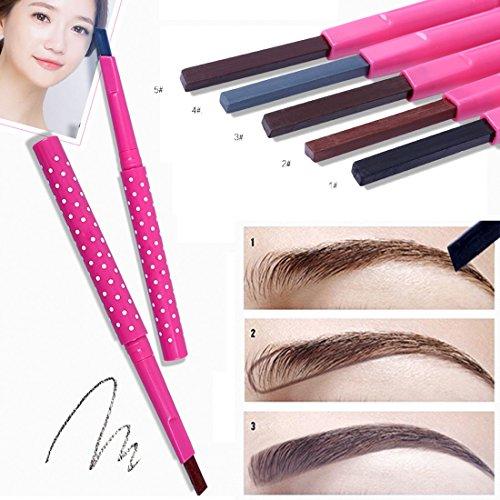 LQZ(TM) Crayon à sourcils Waterproof Rotation Automatique Yeux Maquillage Anti-transpiration Noir